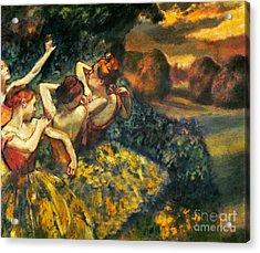 Degas: Four Dancers, C1899 Acrylic Print by Granger