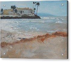 Del Mar Beach Acrylic Print by Robert Bissett