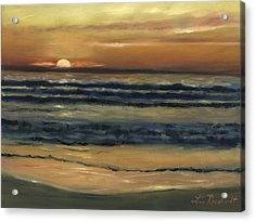 Del Mar Sunset Acrylic Print by Lisa Reinhardt
