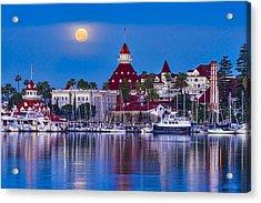 Del Moonset Acrylic Print