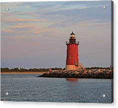 Acrylic Print featuring the photograph Delaware Breakwater Light 2016 by Robert Pilkington