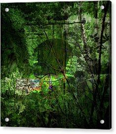 Acrylic Print featuring the digital art Delaware Green by Richard Ricci