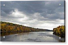 Delaware In Autumn Acrylic Print by Elsa Marie Santoro