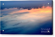 Delaware River Abstract Reflections Foggy Sunrise Nature Art Acrylic Print