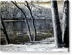 Delaware River Infrared Acrylic Print by John Rizzuto