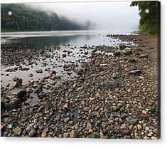Delaware River Mist Acrylic Print