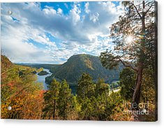 Delaware Water Gap In Autumn Acrylic Print