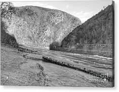 Delaware Water Gap In Winter Acrylic Print