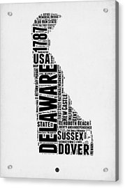 Delaware Word Cloud 2 Acrylic Print