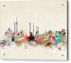 Acrylic Print featuring the painting Delhi City Skyline by Bri B