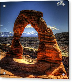 Delicate Arch Framing La Sal Mountains Acrylic Print