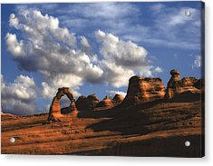 Delicate Arch In Arches National Park Acrylic Print by Utah Images