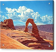 Delicate Arch Acrylic Print by Paul Krapf