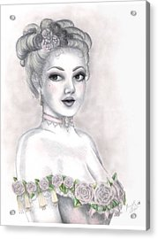 Delicate Beauty Acrylic Print by Scarlett Royal