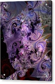 Delicate Lavender Forms Acrylic Print