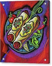 Delicious Anchilada Acrylic Print by Leon Zernitsky