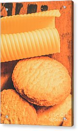 Delicious Cookies With Piece Of Butter Acrylic Print