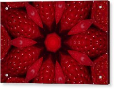 Delicious Strawberries Kaleidoscope Acrylic Print by Robyn Stacey