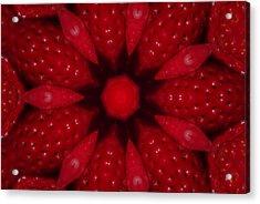 Delicious Strawberries Kaleidoscope Acrylic Print
