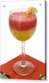 Delicious Strawberry Papaya Smoothie Acrylic Print by Donald Erickson