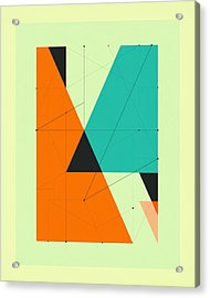 Delineation - 107 Acrylic Print by Jazzberry Blue