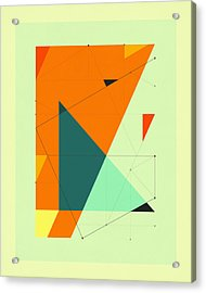 Delineation - 109 Acrylic Print by Jazzberry Blue