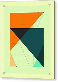 Delineation - 117 Acrylic Print by Jazzberry Blue