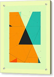 Delineation - 119 Acrylic Print by Jazzberry Blue