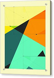 Delineation - 125 Acrylic Print by Jazzberry Blue