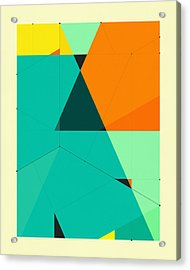 Delineation - 128 Acrylic Print by Jazzberry Blue