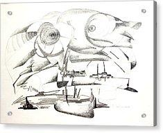 Delire Acrylic Print by Muriel Dolemieux