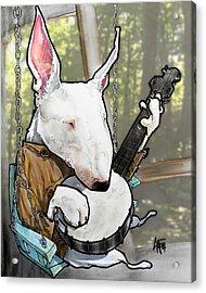 Deliverance Bull Terrier Caricature Art Print Acrylic Print