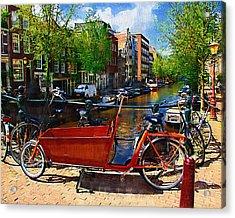 Delivery Bike Acrylic Print by Tom Reynen