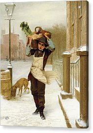 Delivery Boy  Acrylic Print by John George Brown