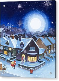 Delivery By Father Christmas Acrylic Print by English School