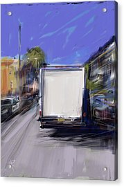 Delivery Acrylic Print by Russell Pierce