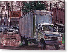 Delivery Truck 2 Acrylic Print by Donald Maier