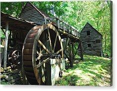 Dellinger Mill Acrylic Print by Alan Lenk