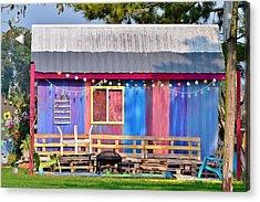 Delmarva Fun Barn Acrylic Print by Kim Bemis