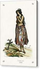 Acrylic Print featuring the drawing Delorida Guham Guam by Jacques Arago