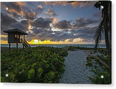 Delray Beach Lifeguard Tower Acrylic Print by Juergen Roth