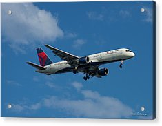 Delta Air Lines 757 Airplane N668dn Acrylic Print by Reid Callaway