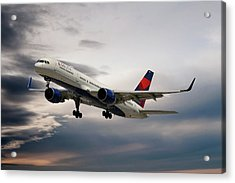 Delta Air Lines Boeing 757-26d Acrylic Print