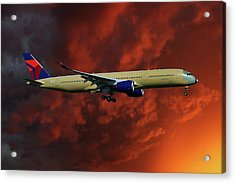 Delta Airlines Airbus A350-900 Acrylic Print