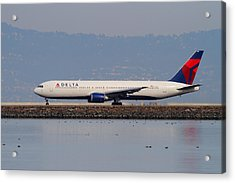 Delta Airlines Jet Airplane At San Francisco International Airport Sfo . 7d12111 Acrylic Print by Wingsdomain Art and Photography