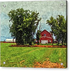 Acrylic Print featuring the digital art Delta Barn by David King