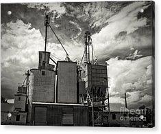 Delta Colorado Grain Elevator Acrylic Print by Janice Rae Pariza