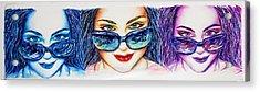 Delta Glasses Acrylic Print by Joseph Lawrence Vasile