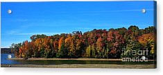Acrylic Print featuring the photograph Delta Lake State Park Foliage by Diane E Berry