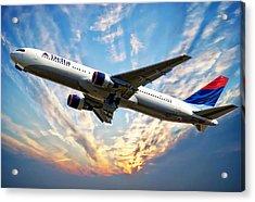 Delta Passenger Plane Acrylic Print